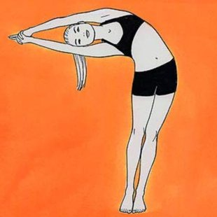 Half Moon yoga pose