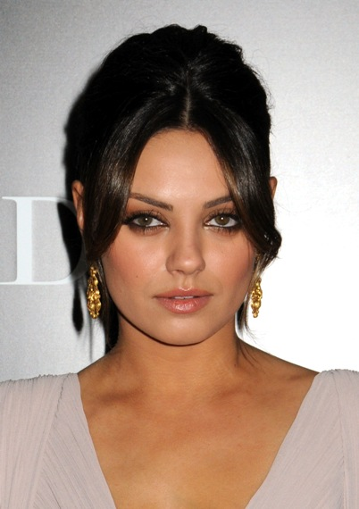 mila kunis face and hair