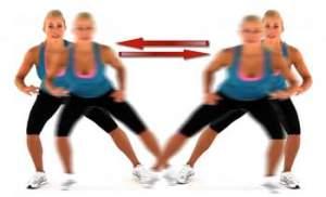 shuffle exercise or side shuffle exercise