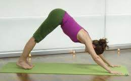 back stretching yoga downward dog position