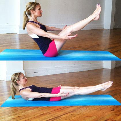 Low Boat Pose Abs Yoga Exercise Popworkouts