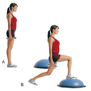 Bosu Ball Lunges Alternative