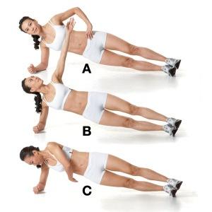 Twisting Plank Exercise