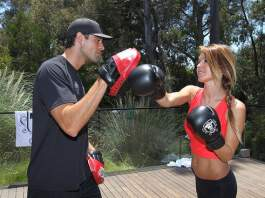 audrina patridge body boxing with trainer