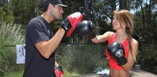 audrina patridge body boxing with trainer