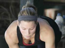 Jessica Biel Workout Hanging Leg Raises