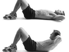 upper body crunches
