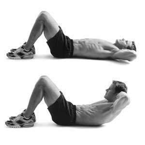 upper body crunches