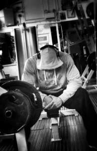 the rock on leg day gym wearing a hoody