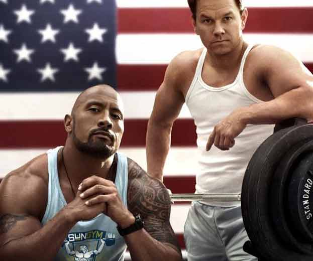 mark wahlberg workout with dwayne johnson the rock