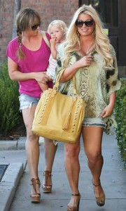 Jessica Simpson Weight Lose Baby Weight Walks Kids