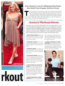 jessica simpson workout for dukes of hazzard daisy duke