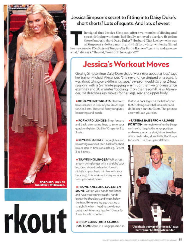 Jessica Simpson Workout And Diet: Her Weight Loss Secrets
