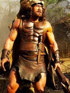 The-Rock as Hercules in 12 Labors of Hercules Thracian Wars Legs and arms