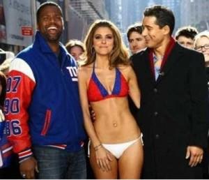 Maria-Menounos-bikini-body-NY-Giants-parade