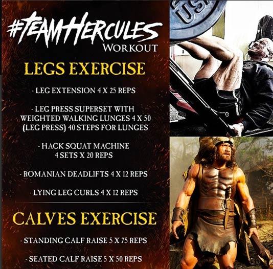 Team Hercules The Rock Leg Workout