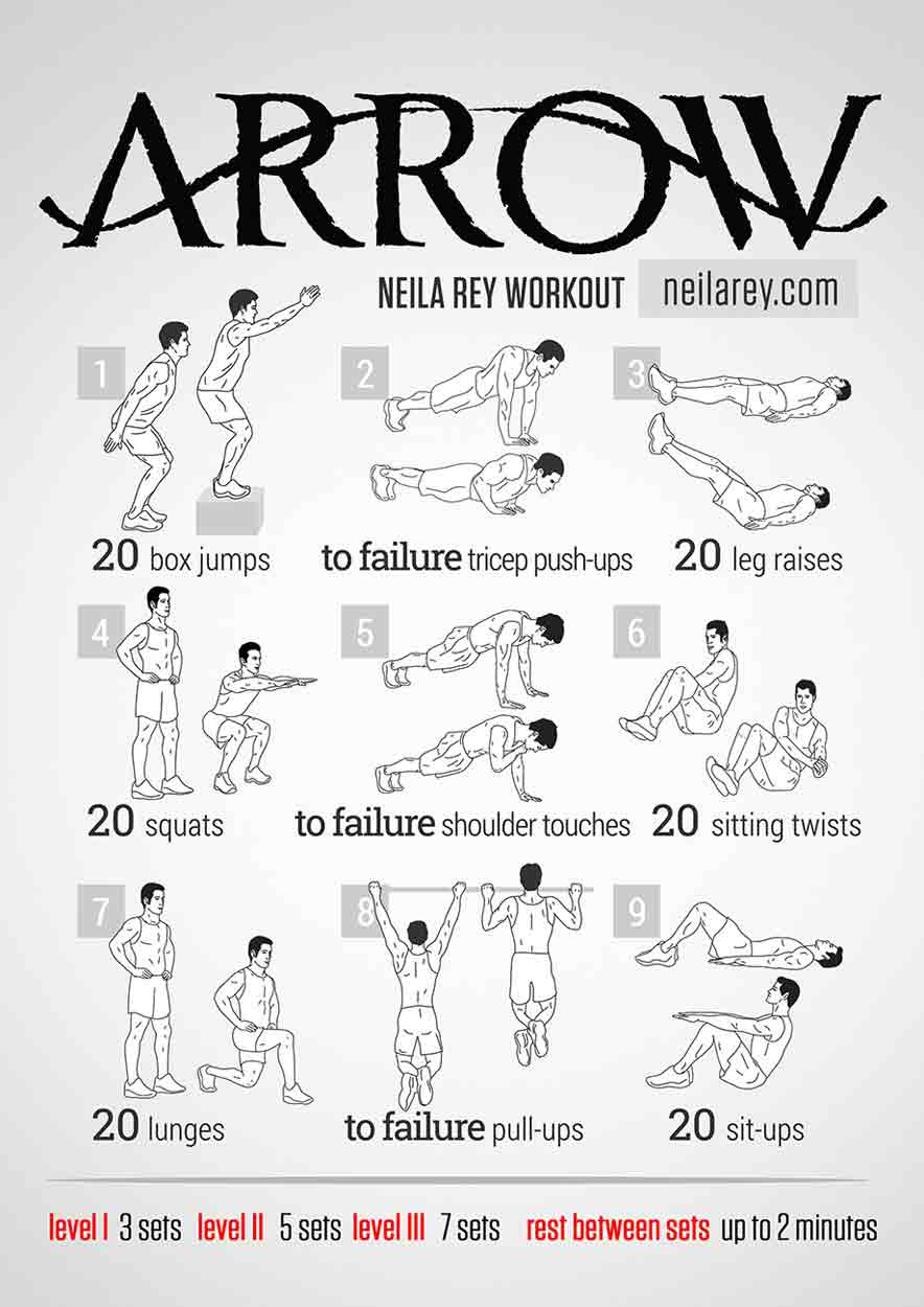 Arrow Workout Bodyweight Routine
