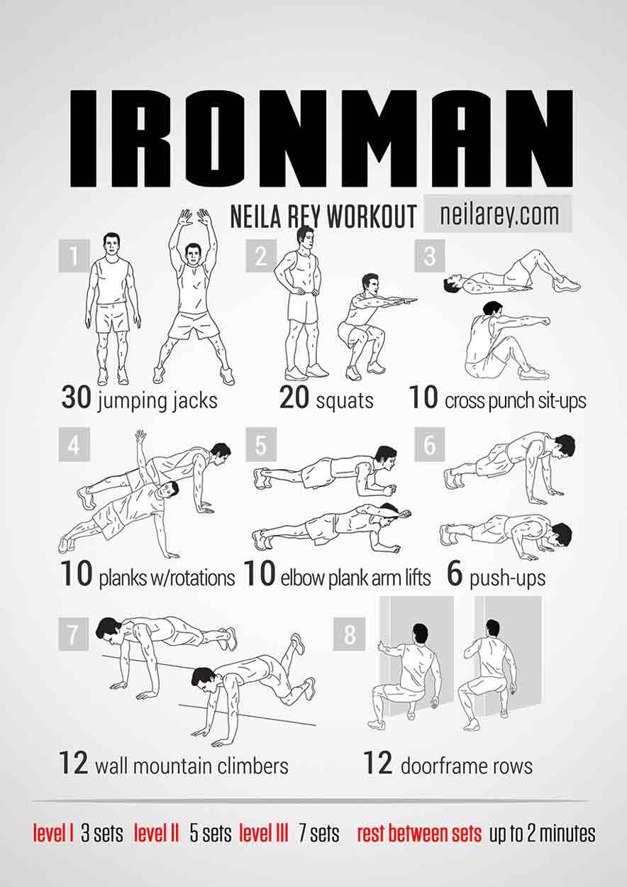 Iron Man Workout: Bodyweight Routine | Pop Workouts