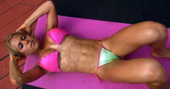 Bikini model ab workout