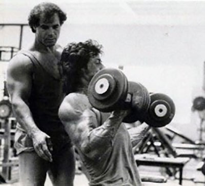 Franco Columbu Training With Sylvester Stallone For Rocky
