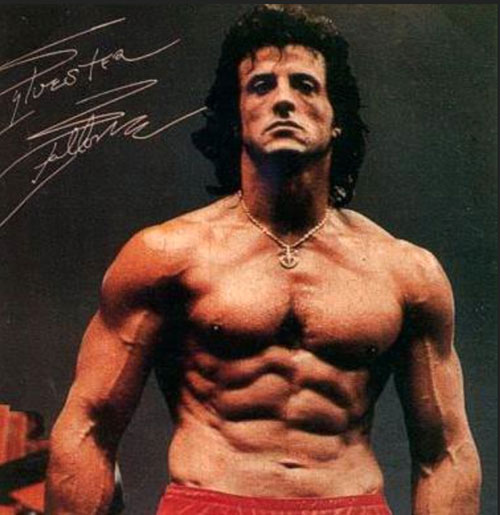 Sylvester Stallone Workout Share