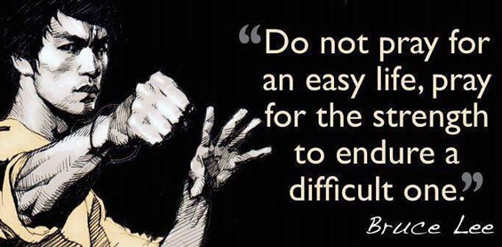Bruce Lee Workout Quote