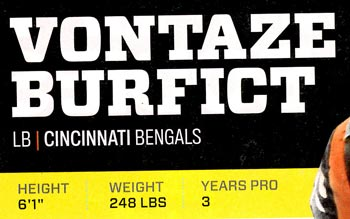 Vontaze-Burfict-Height-and-Weight