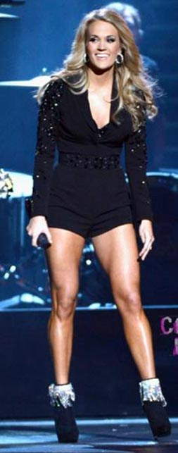carrie underwood workout  long and lean