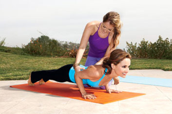 Giada-De-Laurentiis-workout-yoga-training