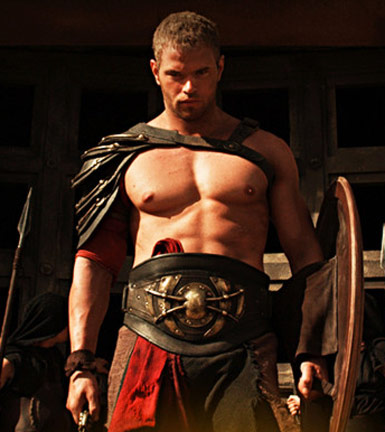 Hercules Kellan Lutz Workout Routine Muscles in Gladiator Gear