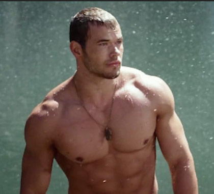 Kellan Lutz Workout Plan Reveals His Chest Abs Traps and Wet hair