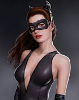 Anne Hathaway Catwoman Workout Showing Off Her Arms and Chest