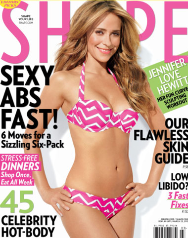 Jennifer Love Hewitt Workout Routine as featured in Shape magazine