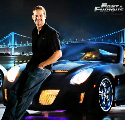 Paul Walker Fast and the Furious Actor Sitting On A Sports Car