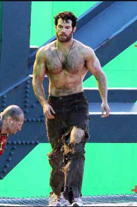 Man of Steel Henry Cavill Chest Abs