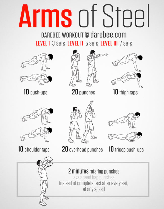Arms of Steel Bodyweight Workout