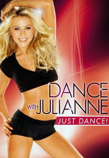 Julianne Hough Workout DVD Just Dance Posing on the Cover
