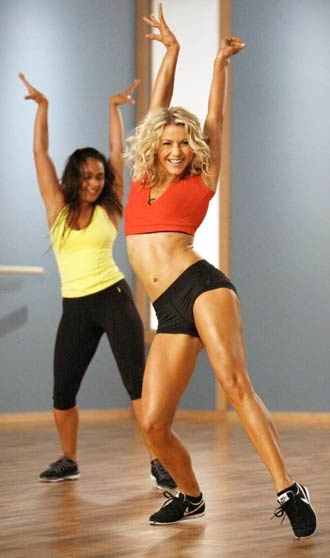 Julianne Hough Workout Dvd Her Dancing In A Gym