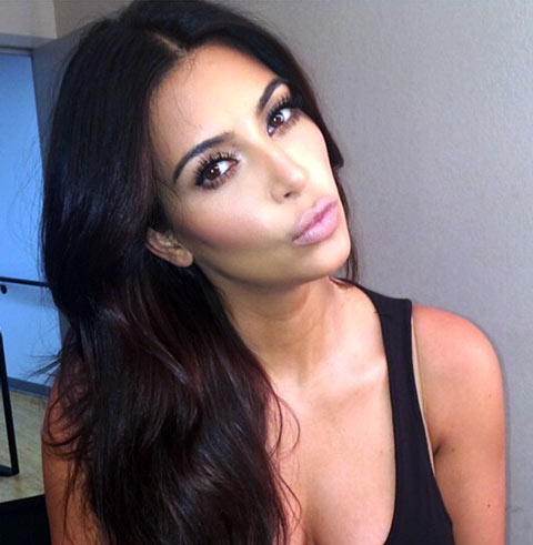 Kim Kardashian Hair And Face
