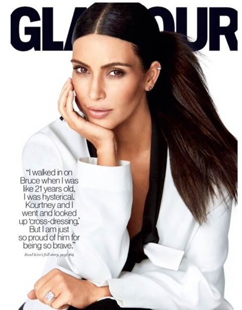 Kims Daily Fitness Routine Glamour Cover Photo Talking About Bruce Caitlyn