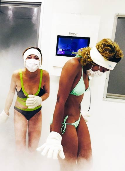 Lindsay Lohan Cryotherapy