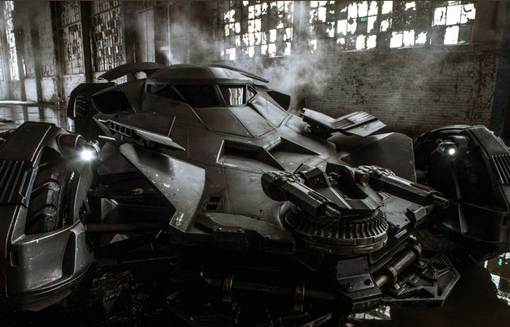 The new Batmobile: Batman v Superman 2016