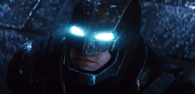 Ben Affleck Batman v Superman Suit Glowing