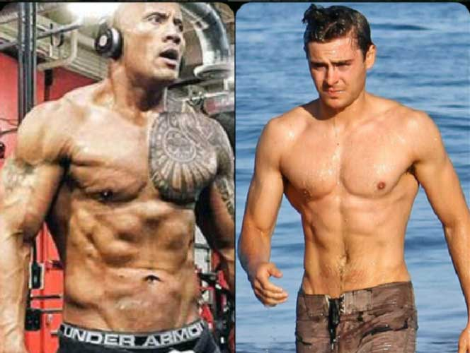 Celebrity Diets The Rock Zach Efron Starring in Baywatch