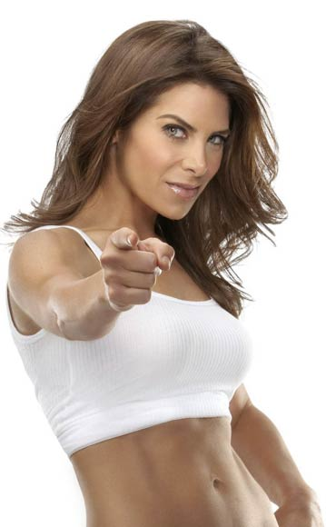 Jillian Michaels 30 day shred workout pointing at you