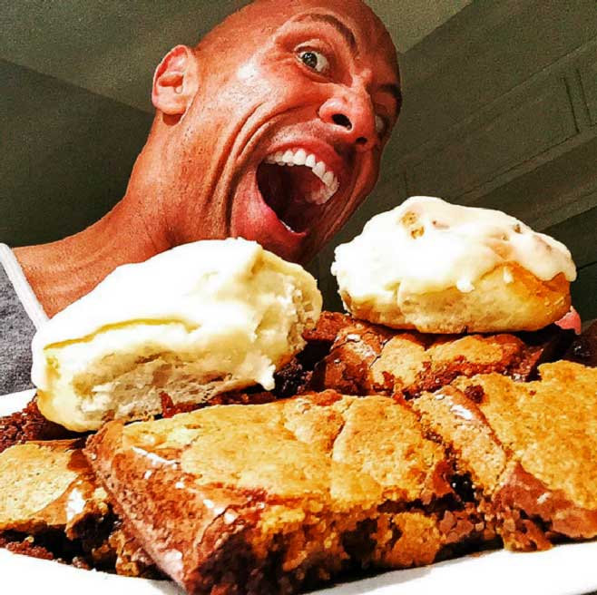 Stick To Yourt Epic Cheat Meals The Rock Dwayne Johnson