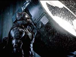 The New Batsuit Ben Affleck as Batman Bat Signal Photo