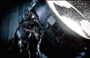 The New Batsuit Ben Affleck as Batman Bat Signal Photo