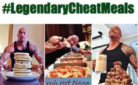 The Rock Epic Cheat Meals