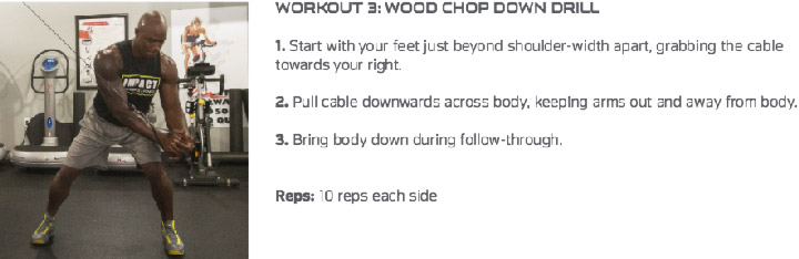 NFL Workout Pass Rusher Wood Chop Downs